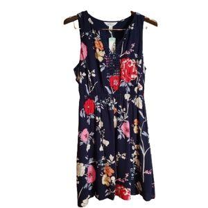 NWT Market & Spruce Floral Midi Halter Dress W SP